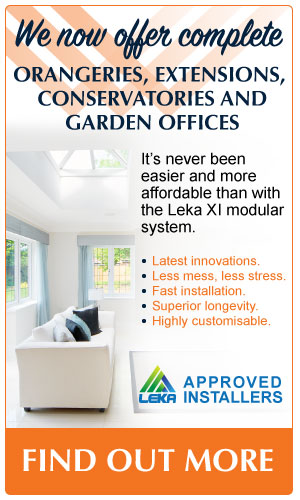 Leka XI System, Conservatories, Extensions, Orangeries and Garden Offices.